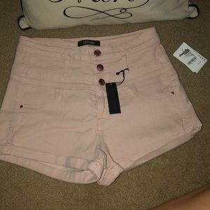 brand new light pink high waisted shorts